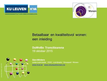 Goedkoper wonen in belgie