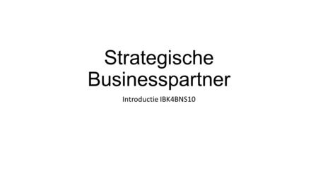Strategische Businesspartner