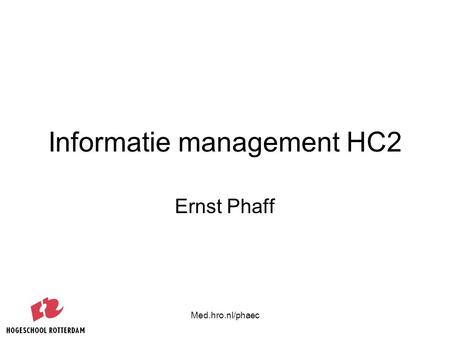 Informatie management HC2