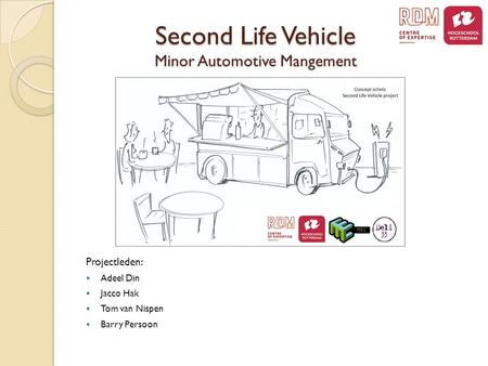 Second Life Vehicle Minor Automotive Mangement Projectleden: Adeel Din Jacco Hak Tom van Nispen Barry Persoon.