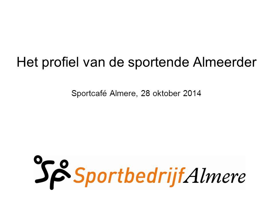 Sportonderzoek in Almere Presentatie op basis van: Monitoring Sportnota Almere 2013 – 2016.