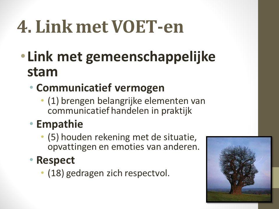 4.Link met VOET-en Link met context Sociorelationele ontwikkeling De leerlingen...