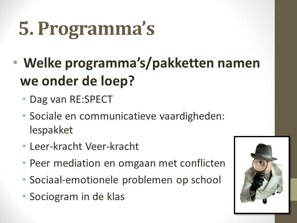 5.Programma's Waarop niet gebaseerd.
