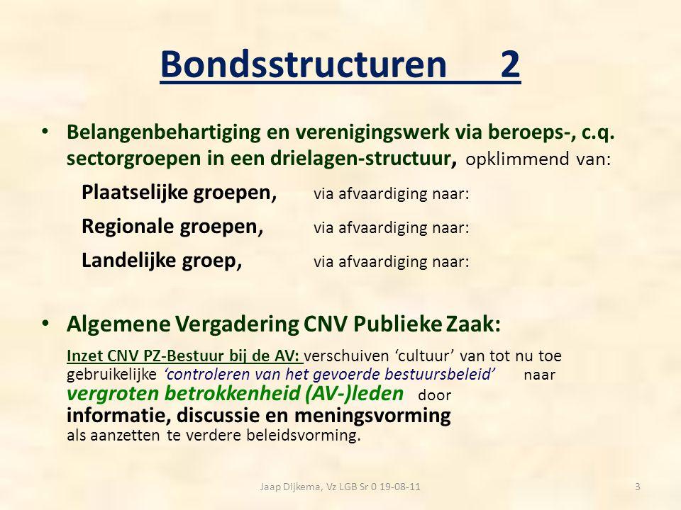 Senioren: plaats in de bond: 1 Landelijke groep Senioren: Ondergebracht bij de cluster Markt/Welzijn.