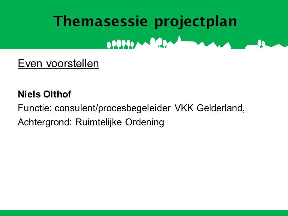 Themasessie projectplan Programma Theorie –Aanleiding: L&G –Wanneer een projectplan.