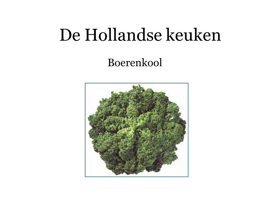 De Hollandse keuken Bloemkool