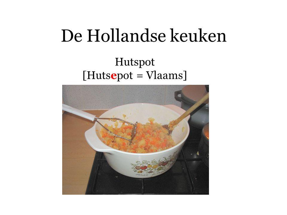 De Hollandse keuken Hutspot wortelen (jonge) ui laurier zout, peper, nootmuskaat aardappelen