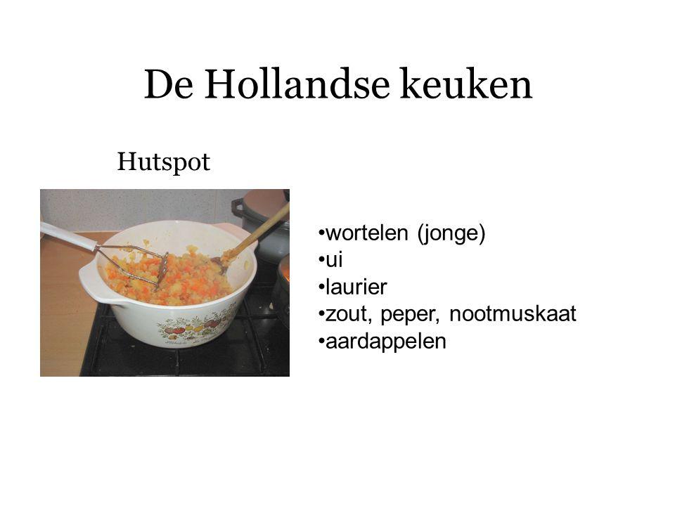 De Hollandse keuken Opmerking: Stamppot eenpansgerecht met aardappels en groente, die voor het opdienen door elkaar gestampt zijn Bijvoorbeeld: hutspot