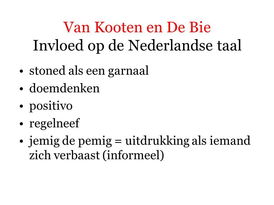 Van Kooten en De Bie Invloed op de Nederlandse taal vieze man