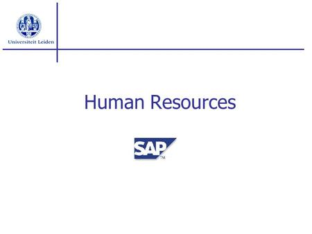 Human Resources.