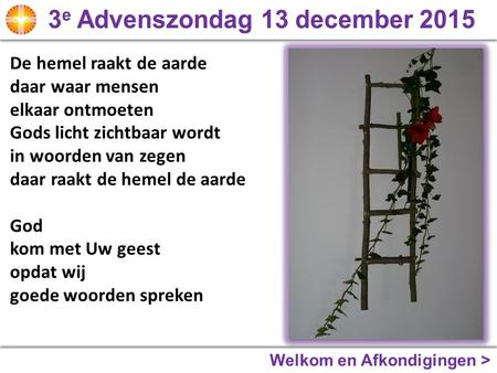 3e Advenszondag 13 december 2015