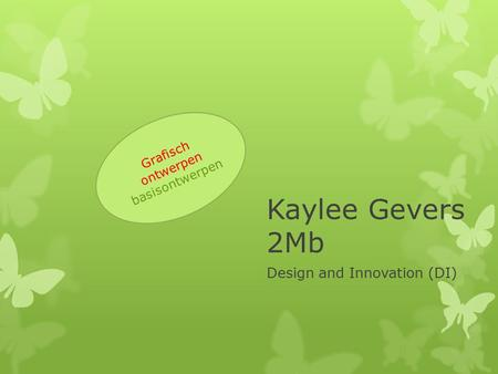 Kaylee Gevers 2Mb Design and Innovation (DI) Grafisch ontwerpen basisontwerpen.