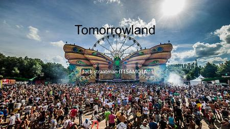 Tomorrowland Jack straatman IT15AMO1A.