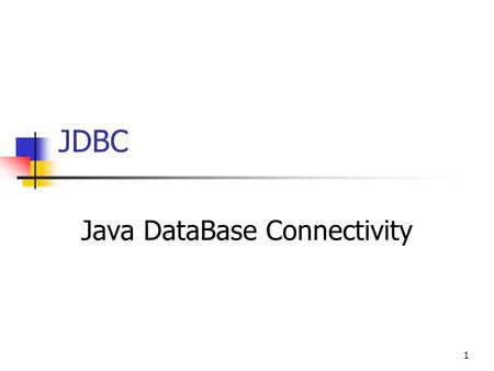 1 JDBC Java DataBase Connectivity. 2 Inhoud Introductie Connectie DriverManager Statement ResultSet PreparedStatement CallableStatement Mapping SQL on.