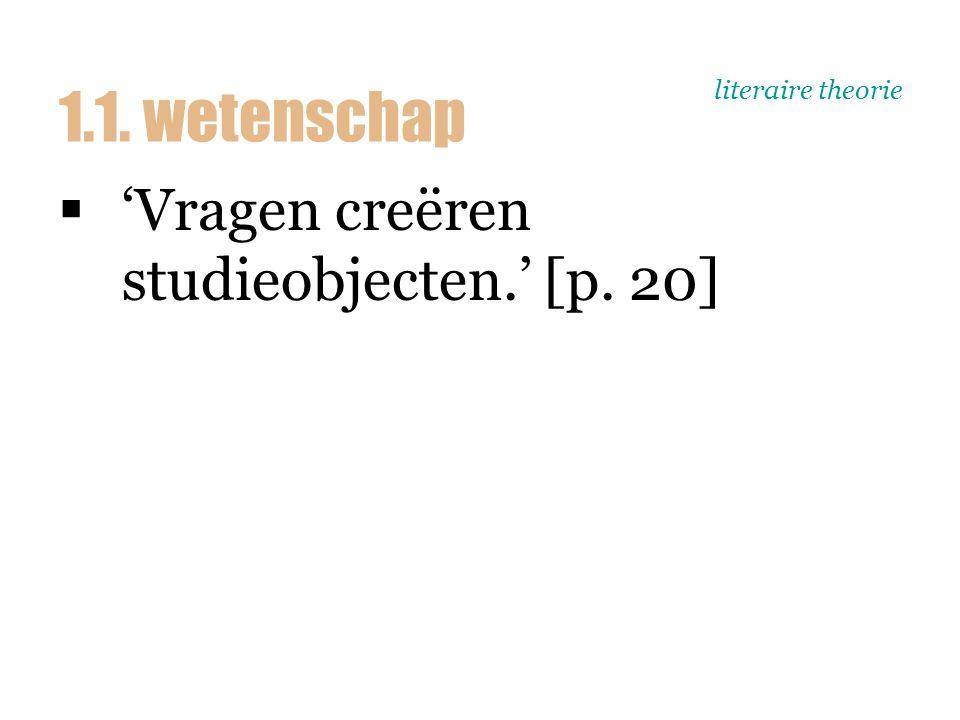 literaire theorie Wetenschappelijk onderzoek: 1.Empirisch domein 2.Theorie 3.Methode 1.1.