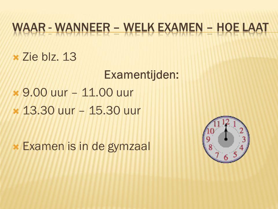  Je mag altijd een Nederlands woordenboek gebruiken.