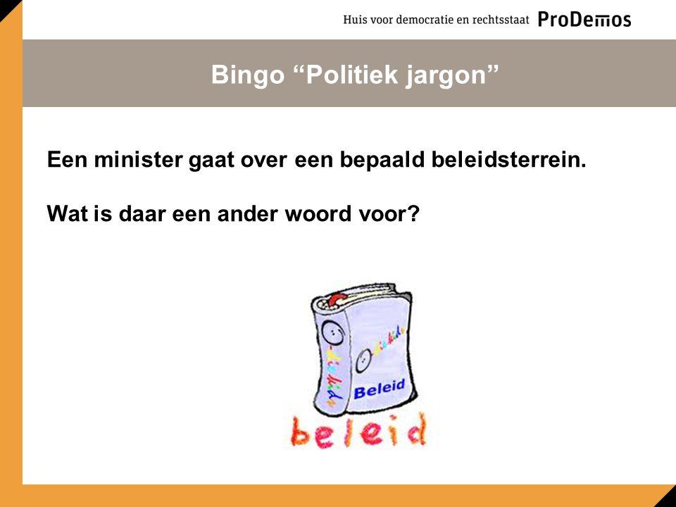 Een wijziging van een wetsvoorstel. Bingo Politiek jargon