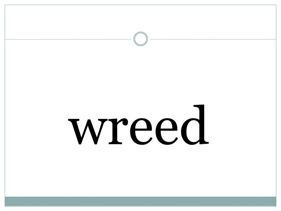 wreed