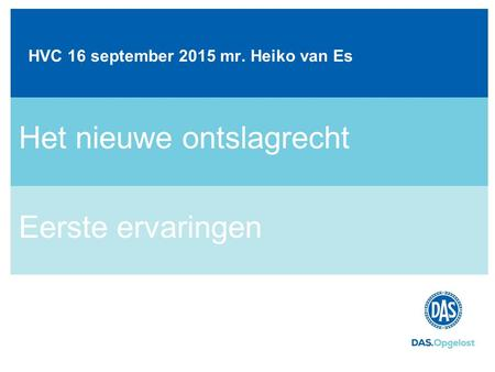 HVC 16 september 2015 mr. Heiko van Es