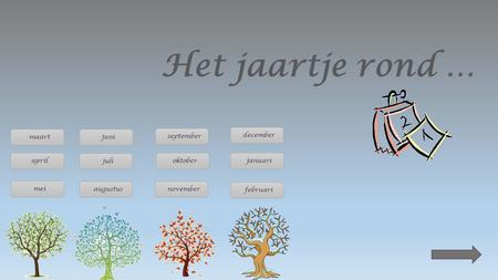 Het jaartje rond … maart juni september december april juli oktober