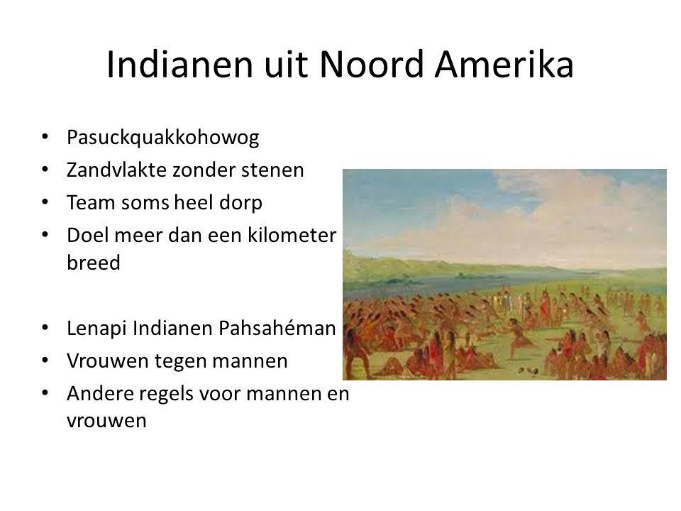 Indianen uit Zuid Amerika Eerst Azteken, dan ook Maya in ±650 na Christus Tlachtli, heupbal Rubberen, zware bal Soort stadion 7 meter hoog twee ringen Tempel