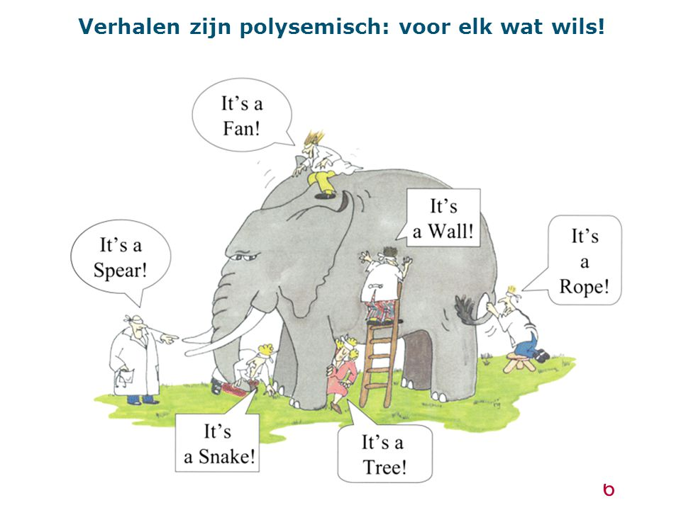Verhalen als veranderstrategie 'If you want to change the way people think, you should change the way they talk' (Bate, 2005).