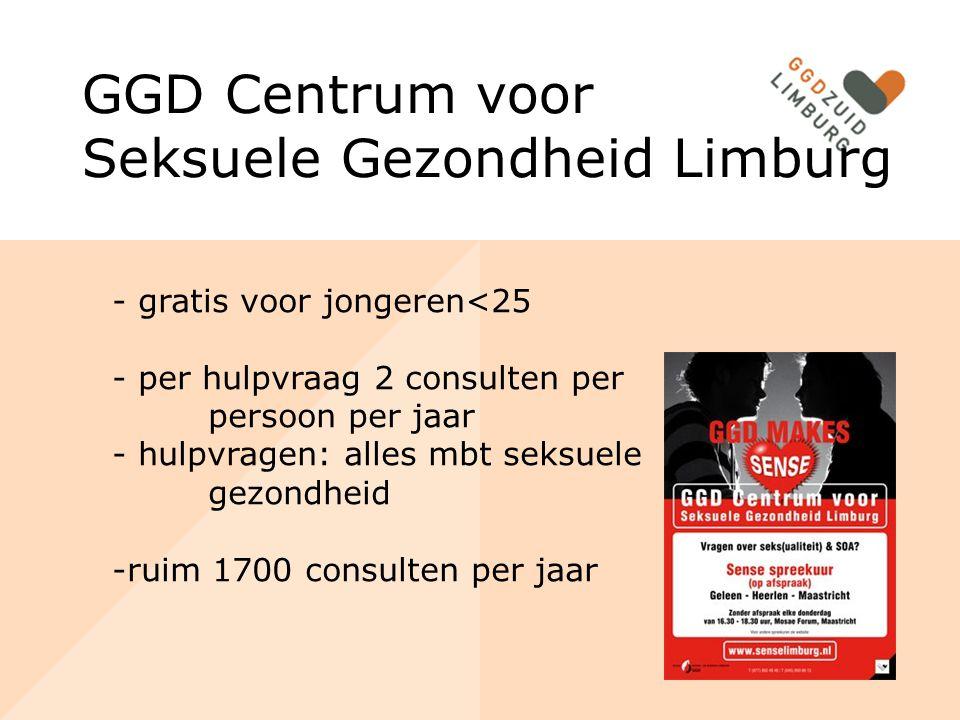 Sense spreekuren Afspraakspreekuur (Heerlen, Geleen, Maastricht, Roermond, Venlo) Inloop spreekuren (gemeentehuis, JIP) Spreekuren op scholen Voorlichting Outreach
