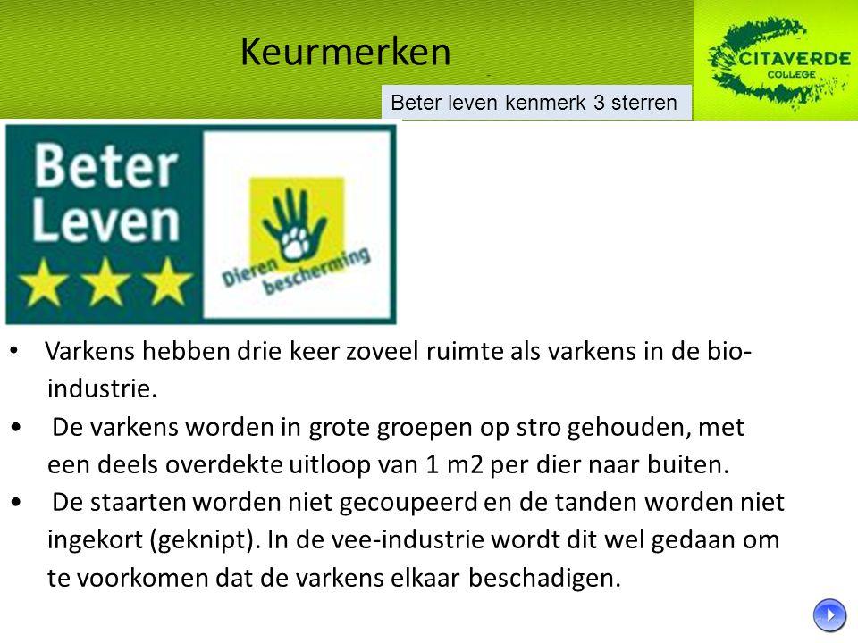 Biologisch vlees De eisen waaraan biologisch vlees voldoet, liggen vast in de Nederlandse wet (naar Europese richtlijnen).