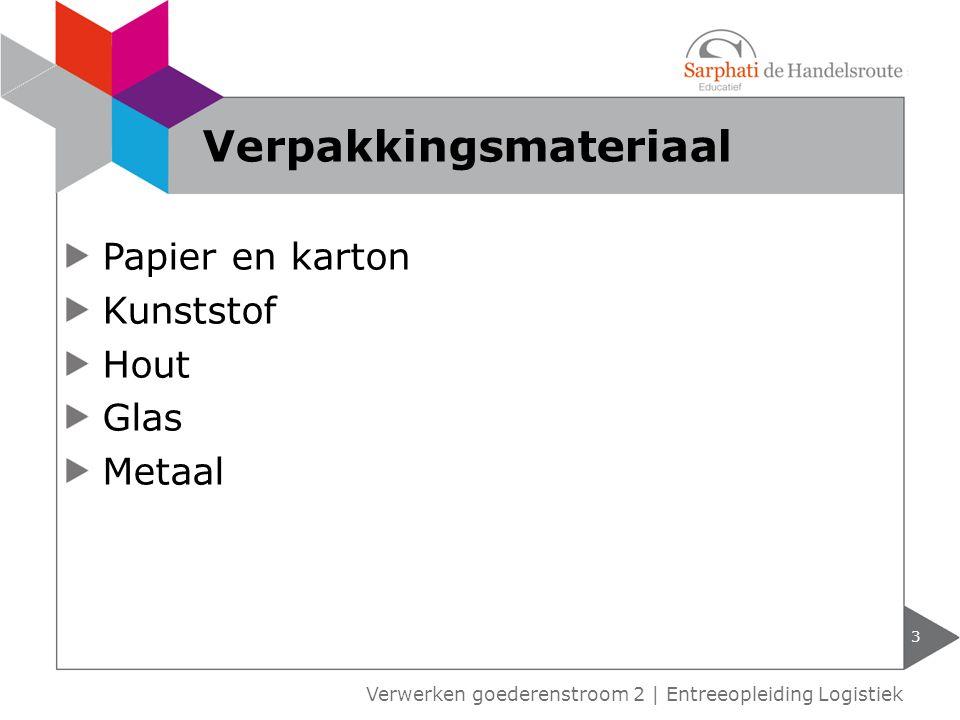 4 Verwerken goederenstroom 2 | Entreeopleiding Logistiek Soorten verpakking