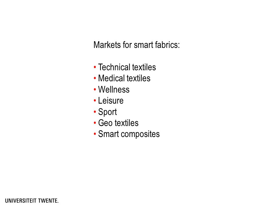 Textile that can monitor changes in its environment and that can act upon these changes..