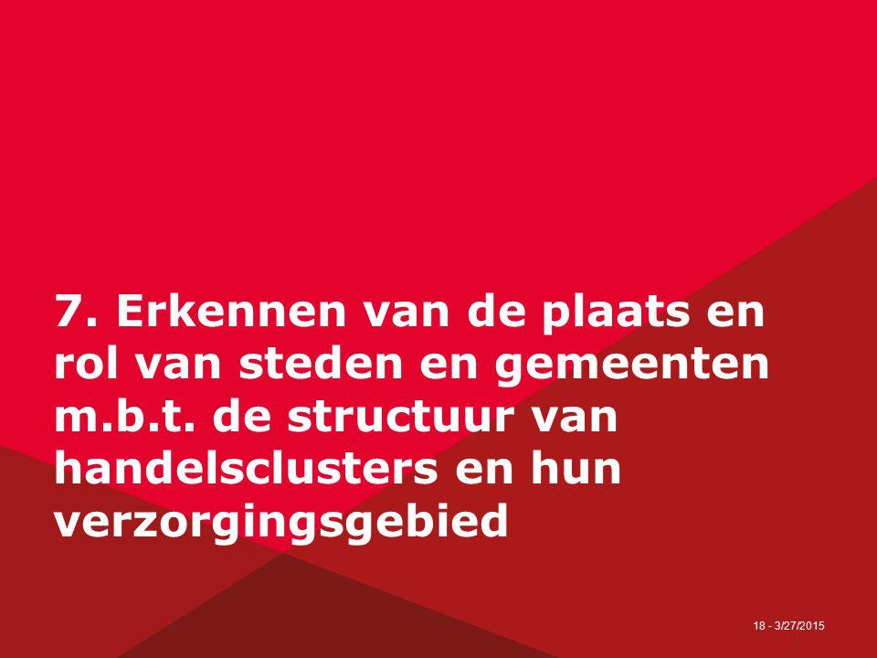 19 - 27/03/2015 7.Erkennen van de plaats en rol van steden en gemeenten m.b.t.