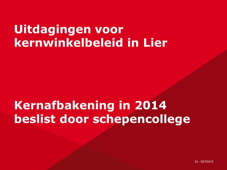 25 - 27/03/2015 Kernafbakening Lier