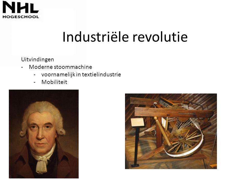 Industriële revolutie Waarom in Engeland  Kapitaal uit handel  grootgrondbezitters  Enclosure (particulier bezit nemen van gemeenschappelijke gronden)  Geen ancient regime Waarom niet eerder.