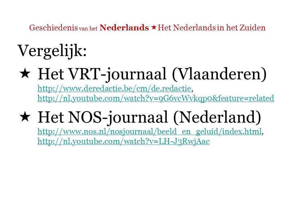 Geschiedenis van het Nederlands  Het Nederlands in het Zuiden  Opvallendste verschil: uitspraak Zinsmelodie en ritme!