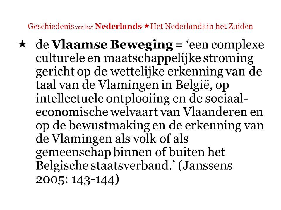 Geschiedenis van het Nederlands  Het Nederlands in het Zuiden  Waarom was het moeilijk voor deze pioniers om hun eisen te verwezenlijken?