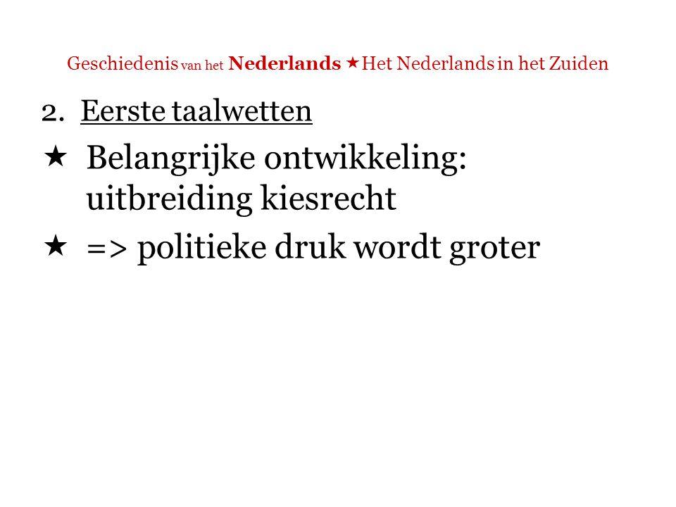 Geschiedenis van het Nederlands  Het Nederlands in het Zuiden 2. Eerste taalwetten  De IJzertoren