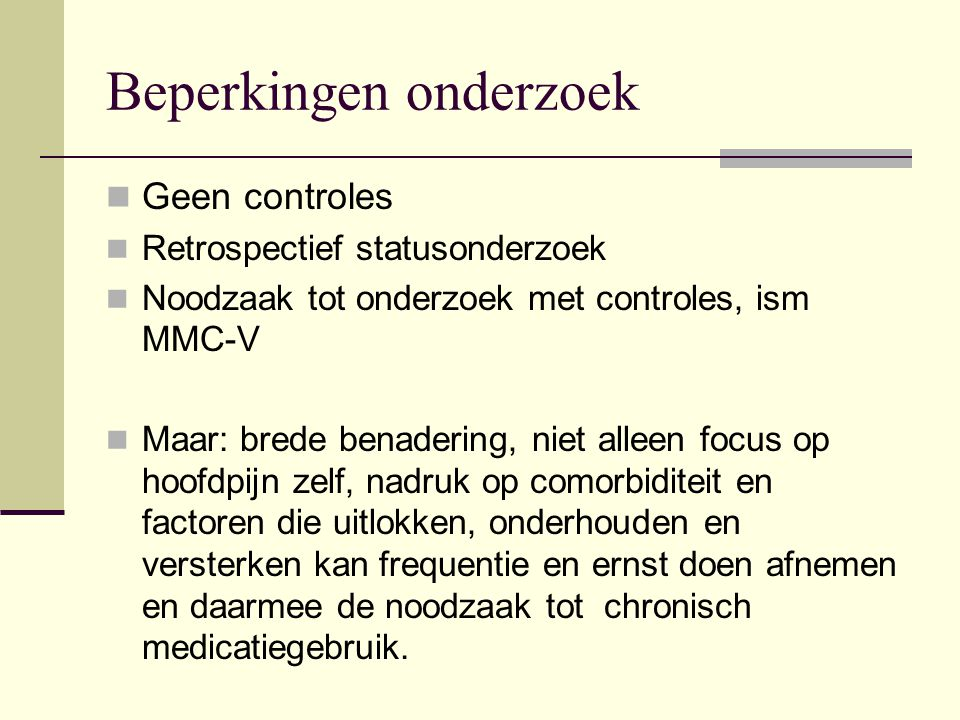 In conclusion we believe that headaches among children can, and must, not only be treated medically.