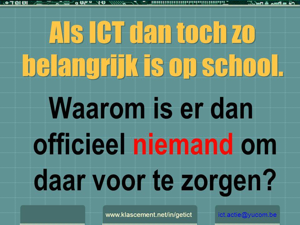 WEL Hard- en software. Wanneer Humanware. www.klascement.net/in/getictict.actie@yucom.be