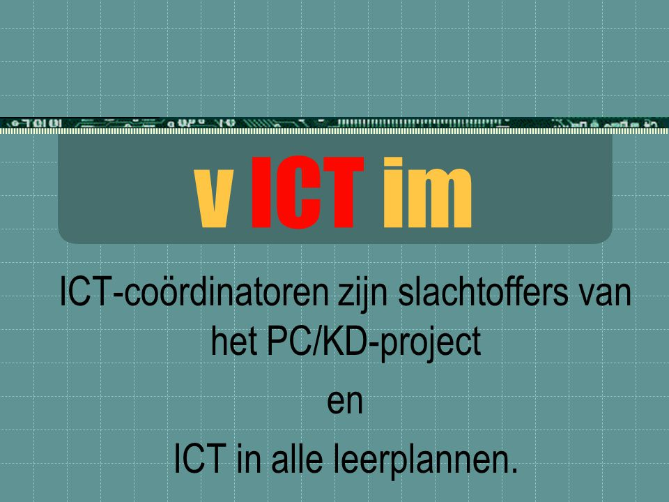 ICT.actie  Wij vragen te investeren in mensen, niet enkel in materiaal.