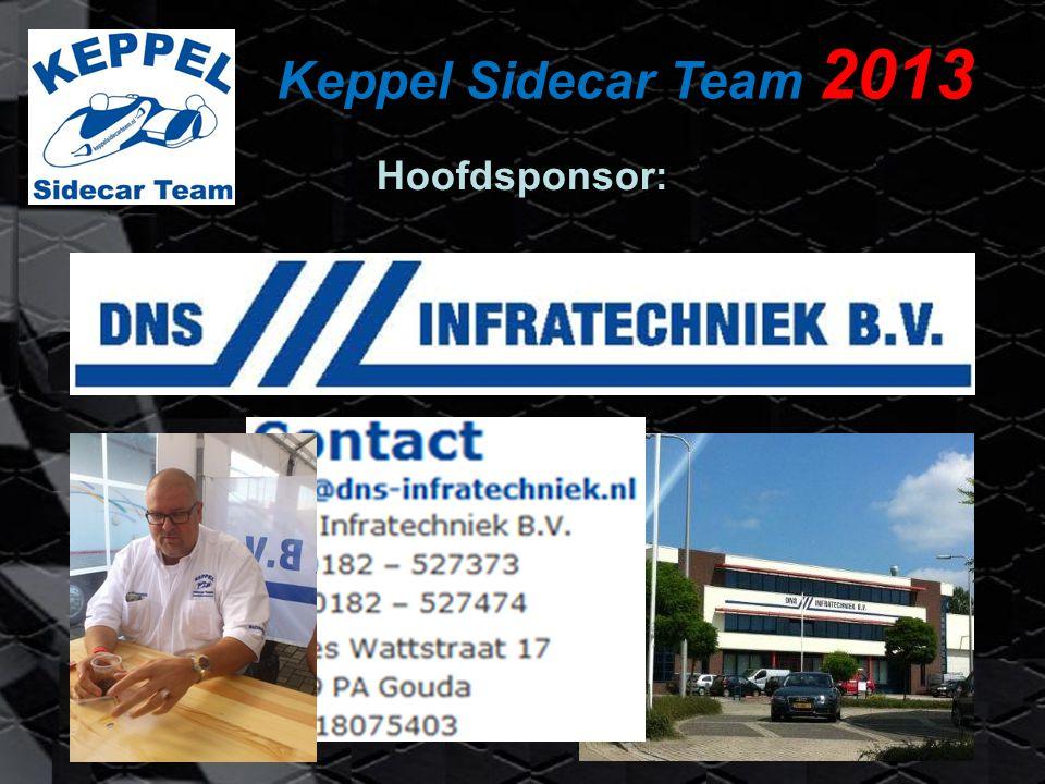 Keppel Sidecar Team 2013 Jarno Keppel (39) Stuurman Arjen Portijk (37) Bakkenist