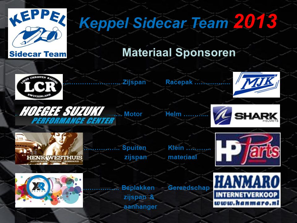 Keppel Sidecar Team 2013 Special paint…
