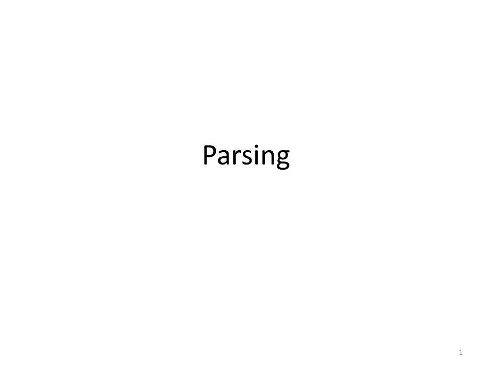 Situering Contextvrije grammatica's Predictive (of recursive-descent) parsing LR-parsing Parser generator: Yacc Error recovery 2