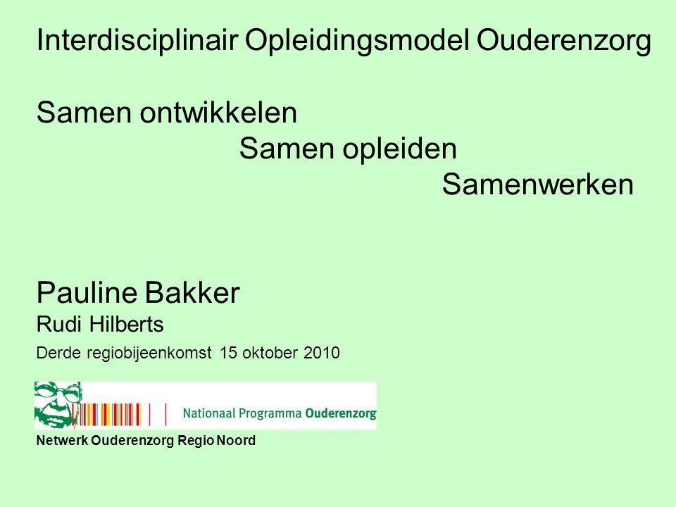 Netwerk Ouderenzorg Regio Noord …….