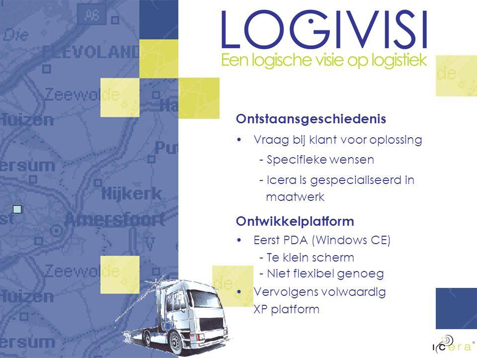 LogiVisi Voordelen Realtime Koppeling CANbus Koppelen bestaande systemen Standaard componenten Keuze-vrijheid bij inrichting Chauffeur krijgt inzicht in eigen rijstijl