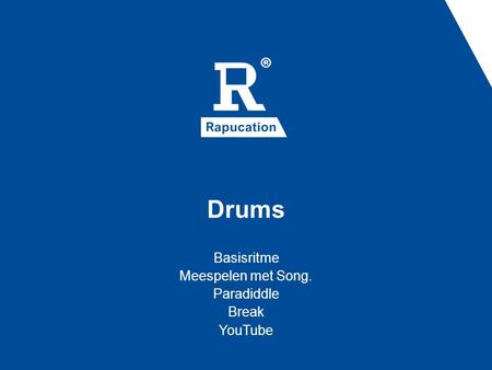 Basisritme Meespelen met Song. Paradiddle Break YouTube