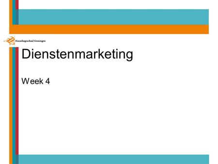 Dienstenmarketing Week 4.
