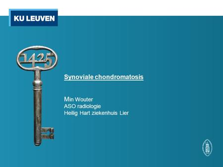 Synoviale chondromatosis M in Wouter ASO radiologie Heilig Hart ziekenhuis Lier.