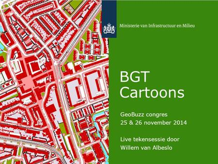 BGT Cartoons GeoBuzz congres 25 & 26 november 2014 Live tekensessie door Willem van Albeslo.