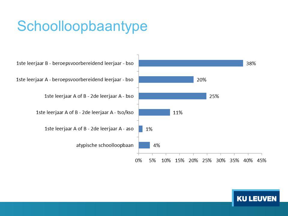 Lezen Luisteren Rekenen IVV Schoolloopbaan Schoolloopbaantype secundair onderwijs (t.o.v.