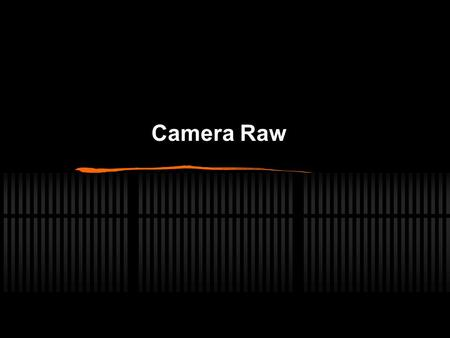 Camera Raw. Wat is Raw Een opname formaat in de camera Keuze tussen jpg of raw.